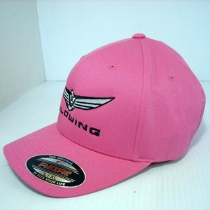 Gold Wing Structured Flexfit Hat - Pink