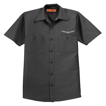Gold Wing Crew Shirt - Charcoal