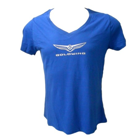 Ladies Gold Wing Tee - Royal Blue