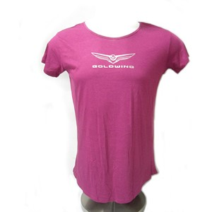 Ladies Gold Wing Tee - Boysenberry