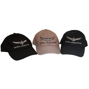 New Style Gold Wing Logo Hat w/Silver Embroidery