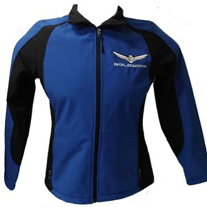 Ladies Gold Wing Soft Shell Jkt - Royal Blue/Blk