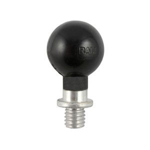 "RAM 1"" Ball Connected to a 3/8""-16 Threaded Post"