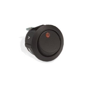 Illuminated Rocker Switch, Round