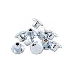 "Chrome Snap Caps 1/4"" 10PK"