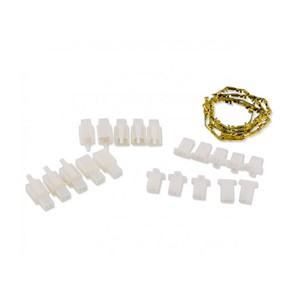 10pk Fem/Male conn w/brass term-2 wires